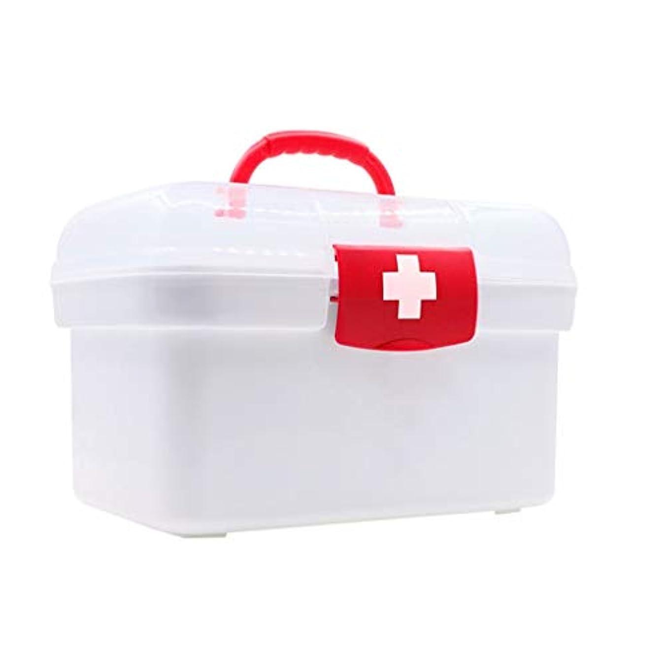 腐食するアクセル一族薬箱ホーム緊急医療箱外来応急処置小さな収納ボックス HUXIUPING (Size : S)