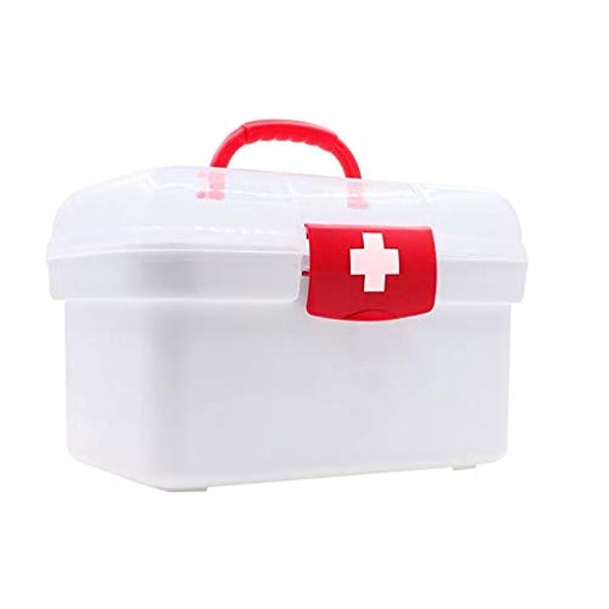 終了する注文に負ける薬箱ホーム緊急医療箱外来応急処置小さな収納ボックス HUXIUPING (Size : S)