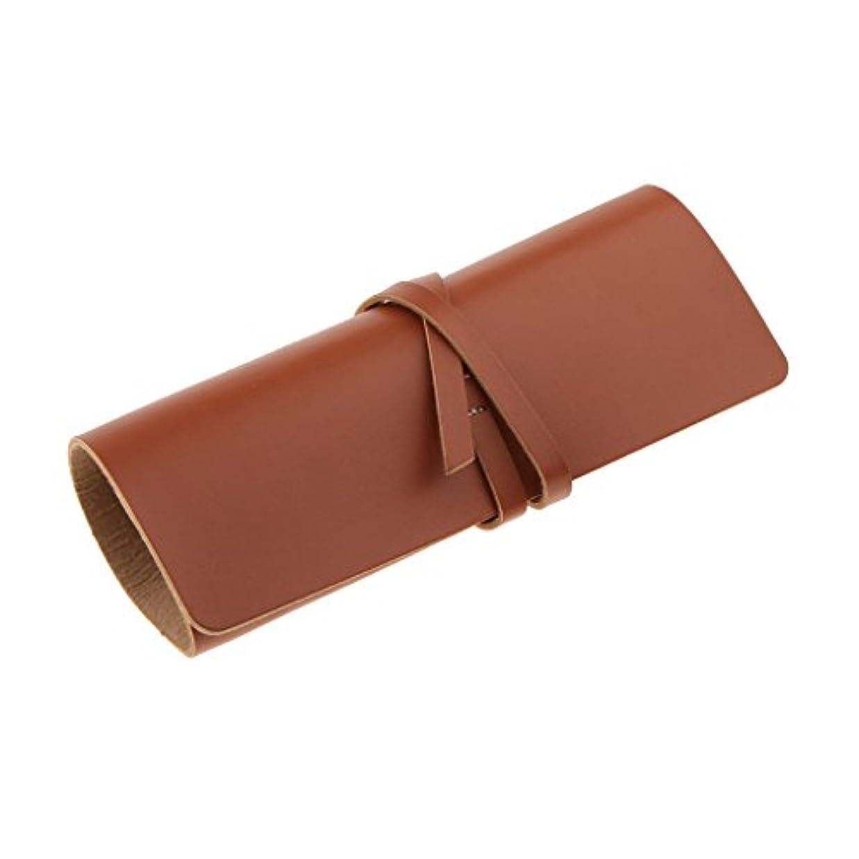 死イディオム拒絶するBaoblaze カミソリケース 収納ケース 収納ポーチ プロテクターケース シェーバーポーチ 折りたたみ 全2色 - 褐色