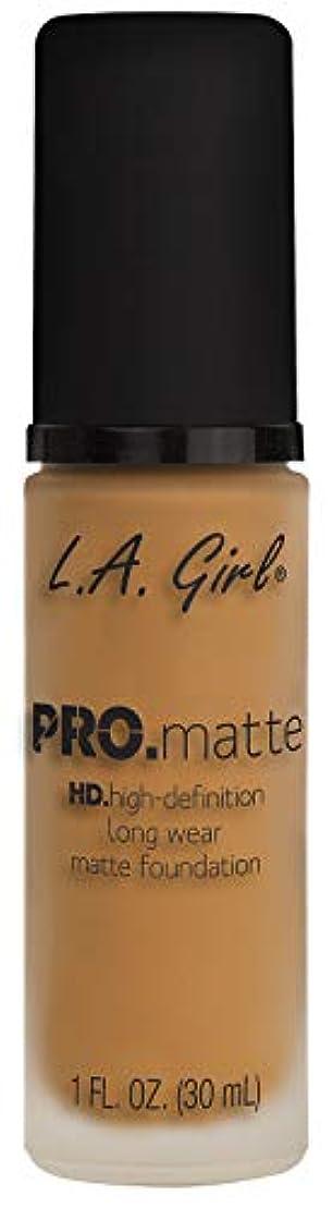 こねる外出自体L.A. GIRL Pro Matte Foundation - Espresso (並行輸入品)
