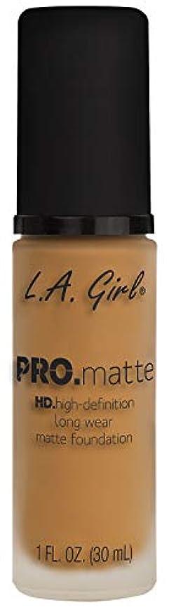 二層誰でも冗談でL.A. GIRL Pro Matte Foundation - Espresso (並行輸入品)