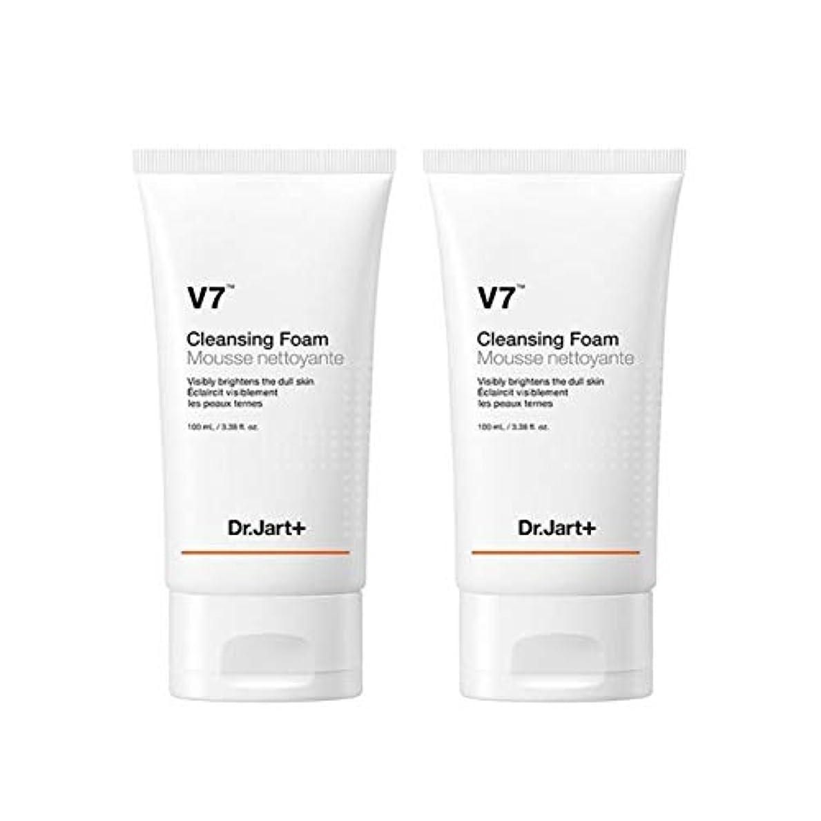 ファンシー収容する葡萄ドクタージャルトゥV7クレンジングフォーム100mlx2本セット韓国コスメ、Dr.Jart V7 Cleansing Foam 100ml x 2ea Set Korean Cosmetics [並行輸入品]