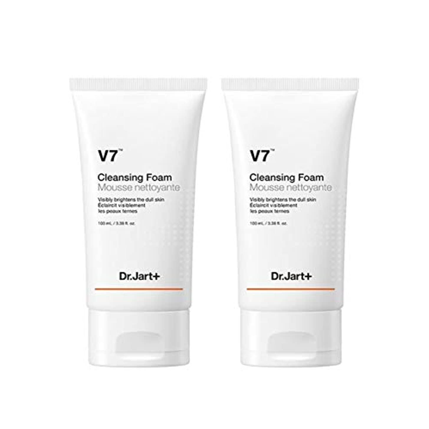 グラス裁定刈るドクタージャルトゥV7クレンジングフォーム100mlx2本セット韓国コスメ、Dr.Jart V7 Cleansing Foam 100ml x 2ea Set Korean Cosmetics [並行輸入品]