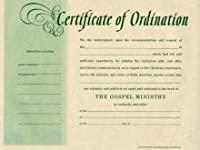 certificate-ordination-minister ( Package of 6)