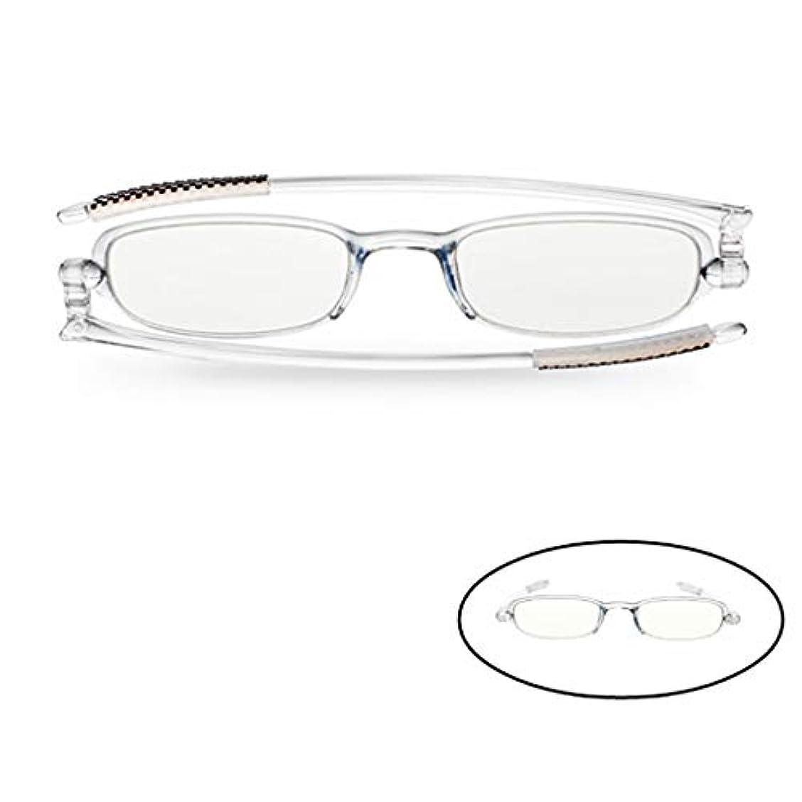 コンピュータカードリーダーの老眼鏡X1、男性と女性のアンチブルー放射線、春の蝶番ポータブル折りたたみ式軽量読書用メガネ(360°回転)