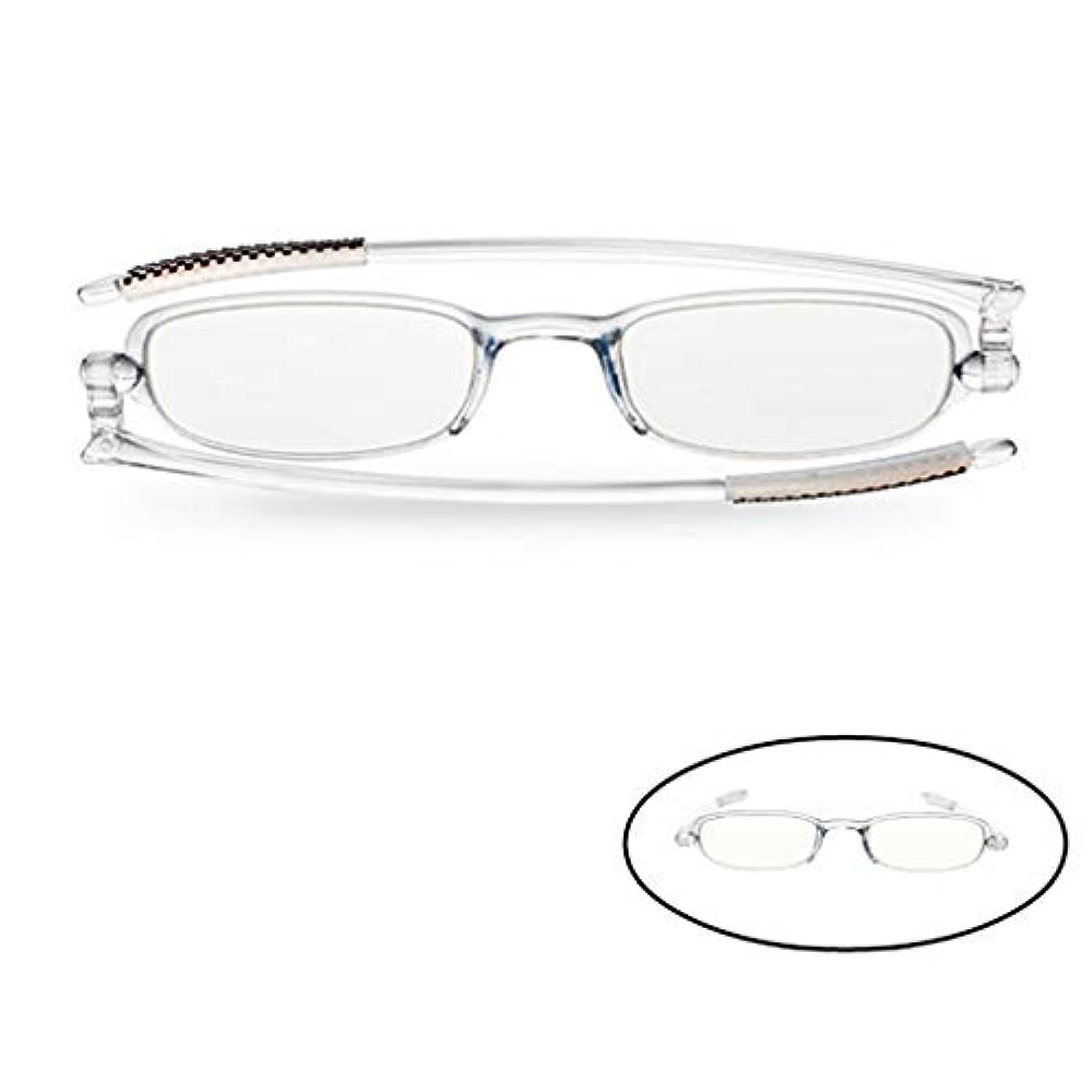 知人前置詞罰コンピュータカードリーダーの老眼鏡X1、男性と女性のアンチブルー放射線、春の蝶番ポータブル折りたたみ式軽量読書用メガネ(360°回転)