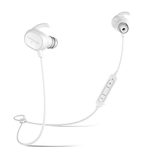 JPRiDE JPA1 MK-II iphone7 対応 ワイヤレスイヤホン AAC aptX 高音質コーデック対応 Bluetooth 4.1 ブルートゥース イヤホン 超小型 軽量 12.7g 11種類のイヤーピース付属 APT-X IP64 防塵防水 CVC6.0ノイズキャンセリグ マイク内蔵 ハンズフリー通話 技適認証済 (AAC APT-X 両対応 ホワイト )