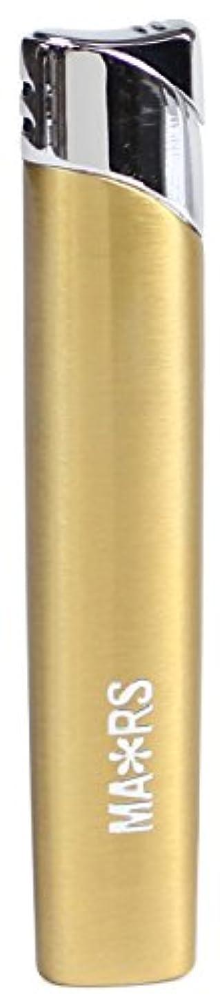 乞食センサー比類のないMARS(マーズ) ガスライター スリム オーヴァル 注入式 レディース ゴールド MARS-L010GD