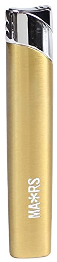 反対した巻き取り顧問MARS(マーズ) ガスライター スリム オーヴァル 注入式 レディース ゴールド MARS-L010GD