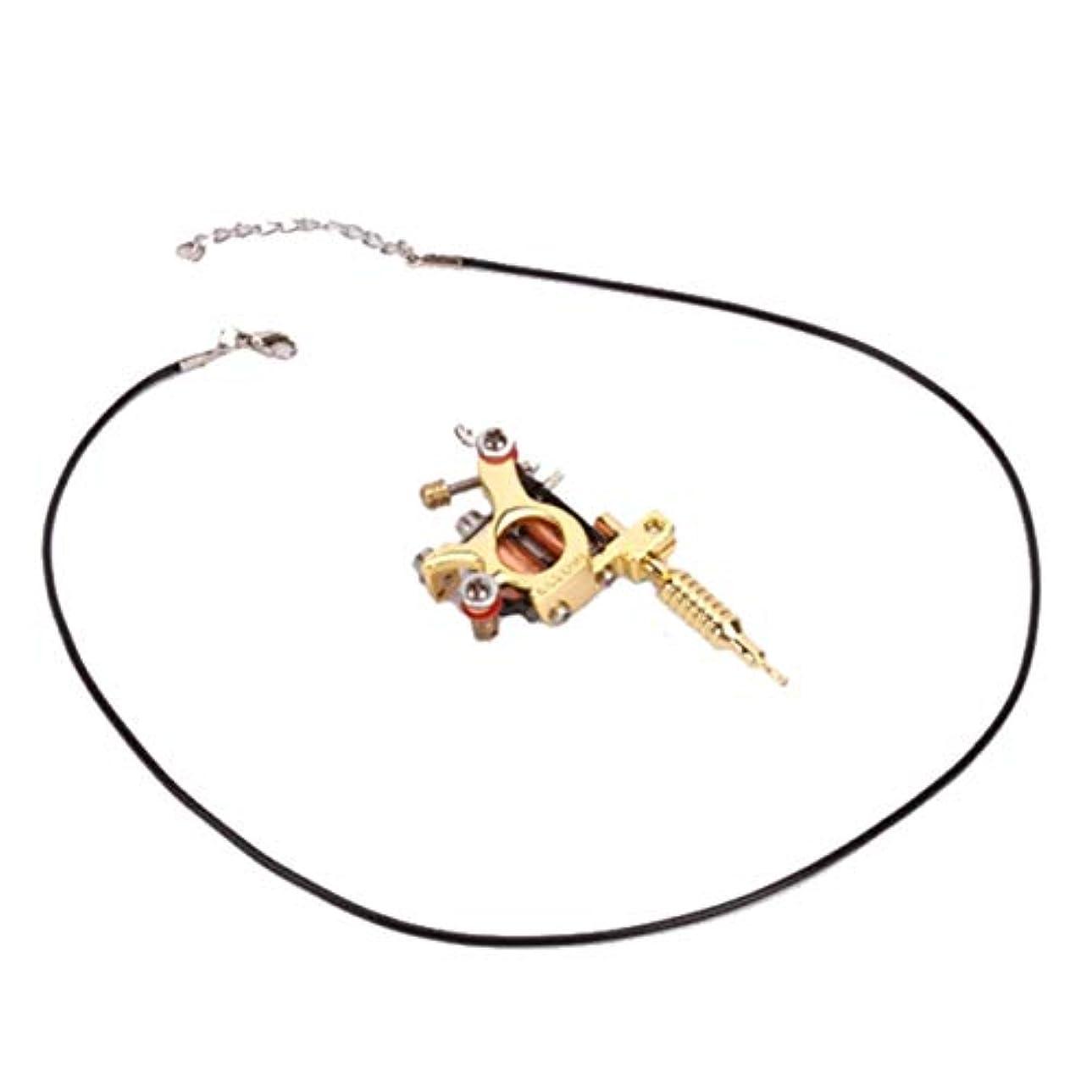 特性ラジウム話鋳造技術ユニセックスゴールデン&シルバー8ワープコイルGs100ファッションミニガンタトゥーマシンペンダントおもちゃ-ゴールド