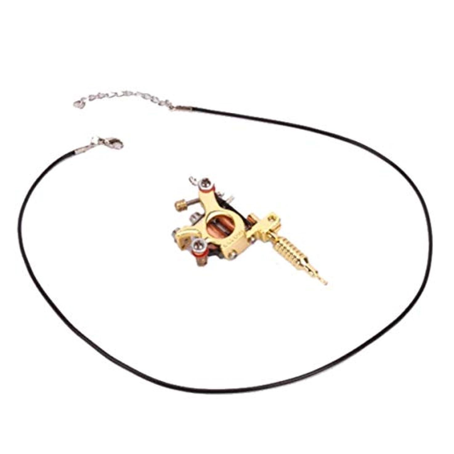 類人猿聖域過ち鋳造技術ユニセックスゴールデン&シルバー8ワープコイルGs100ファッションミニガンタトゥーマシンペンダントおもちゃ-ゴールド