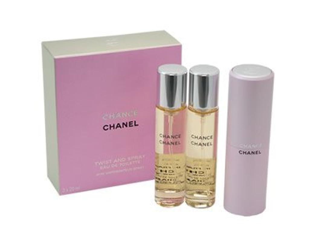 太字びっくり関与するチャンス ツイスト CHANEL シャネル 香水 オードトワレ EDT SP 20ml SP レフィルx2 (並行輸入品)