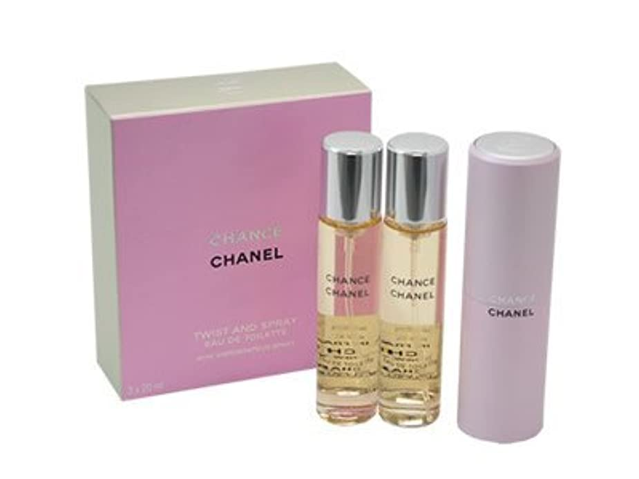 クレーターモードリン地理チャンス ツイスト CHANEL シャネル 香水 オードトワレ EDT SP 20ml SP レフィルx2 (並行輸入品)