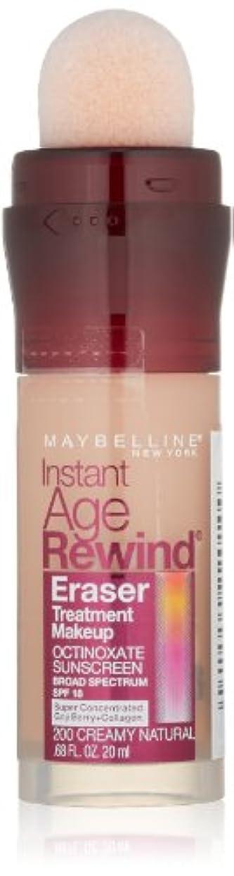 慢性的どんなときも削除するMAYBELLINE Instant Age Rewind Eraser Treatment Makeup - Creamy Natural (並行輸入品)