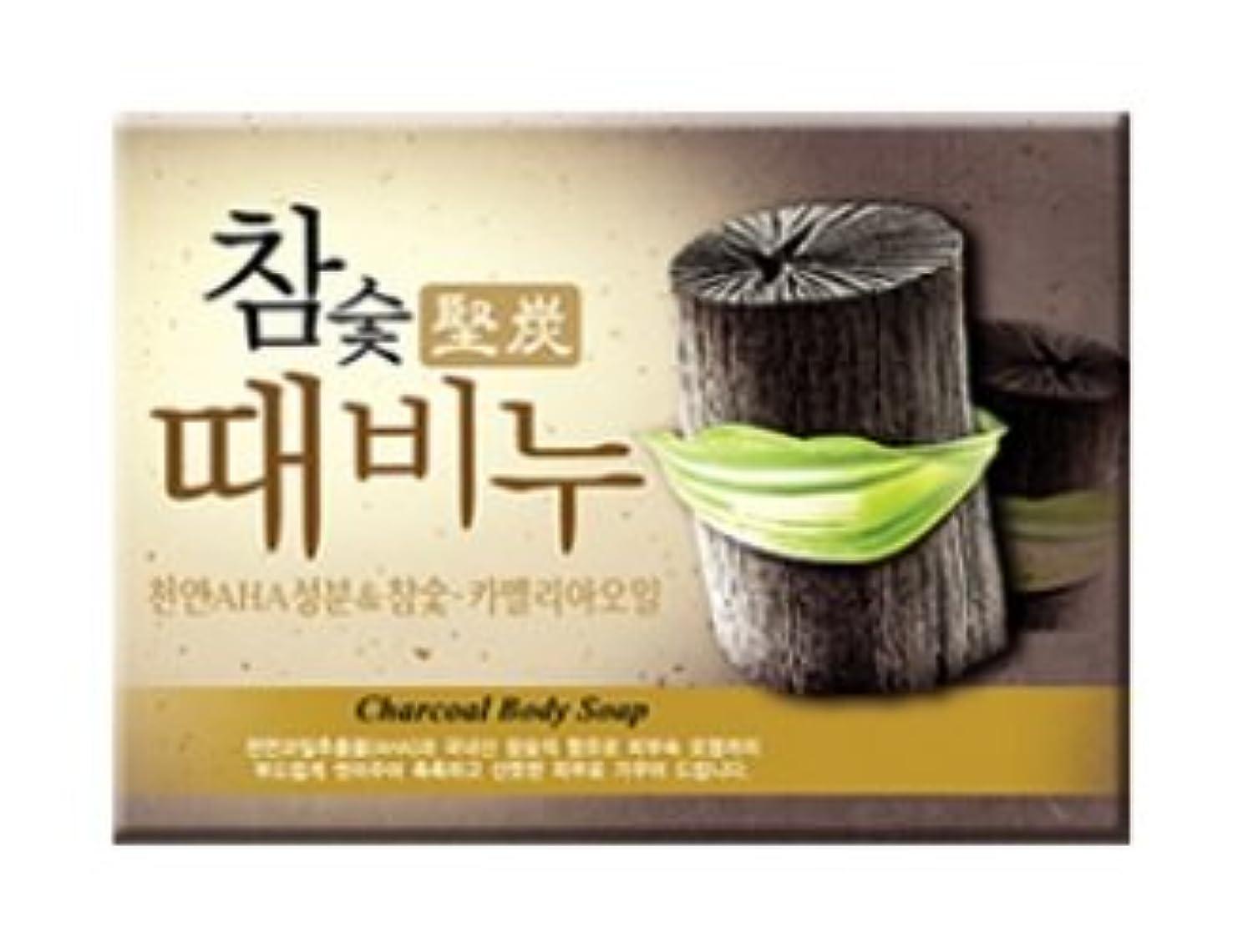 アニメーション弾薬黒板堅炭ソープ 100g / Charcoal Body Soap [並行輸入品]