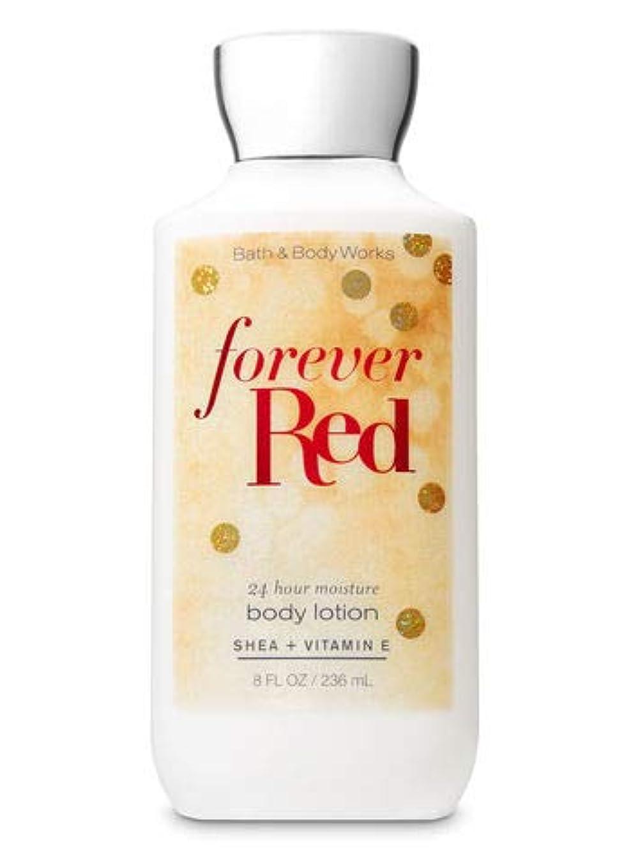 不運クマノミイル【Bath&Body Works/バス&ボディワークス】 ボディローション フォーエバーレッド Super Smooth Body Lotion Forever Red 8 fl oz / 236 mL [並行輸入品]