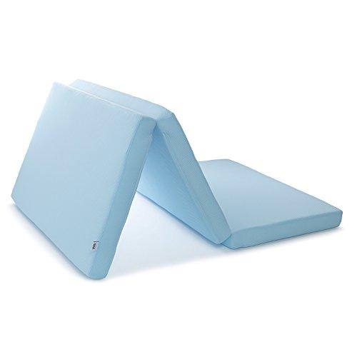 エアウィーヴ マットレス スマートZ セミダブル ブルー 三つ折り 厚さ9cm 1-151021-1