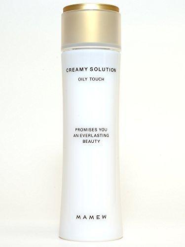 MAMEW クリーミィソリューション-化粧水-高保湿・お肌にうるおい・ふっくらハリのあるお肌・吸い付くようなもっちり肌・くすみを整える-EGF・FGF配合-120ml