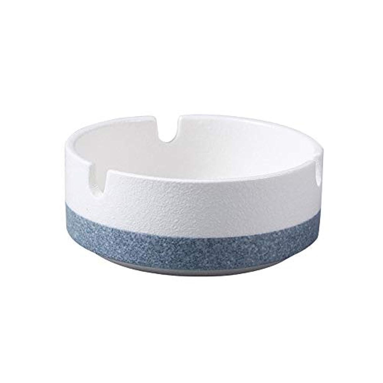 味方インフレーション参照するたばこ、贈り物、ホームオフィス用の丸い光沢のある灰皿(白)