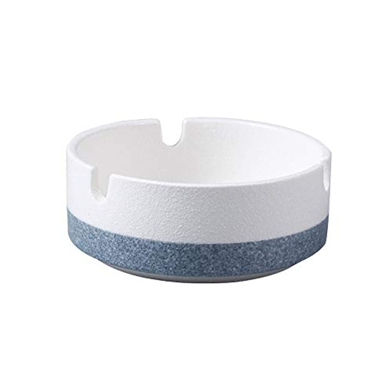 予防接種するやめる比率たばこ、贈り物、ホームオフィス用の丸い光沢のある灰皿(白)