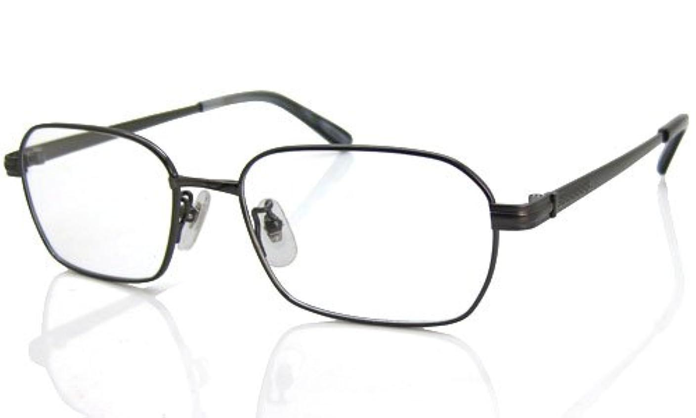 老眼鏡 シンプリー ブルーライトカット 老眼鏡[全額返金保証] (ガンメタ,度数:+2.0) PCメガネ老眼鏡