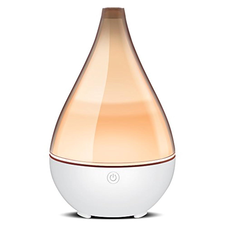 火山の保存みすぼらしいInnoGear ホームヨガ オフィス 用 ユニークな呼吸ライト水なしオートオフで2019花瓶形 エッセンシャルオイルディフューザーエレガントな透明カバークールミスト加湿器超音波アロマディフューザー グレー