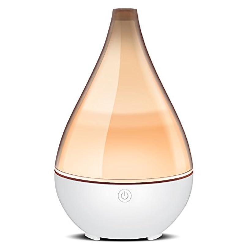 ストレスアカデミー見物人InnoGear ホームヨガ オフィス 用 ユニークな呼吸ライト水なしオートオフで2019花瓶形 エッセンシャルオイルディフューザーエレガントな透明カバークールミスト加湿器超音波アロマディフューザー グレー