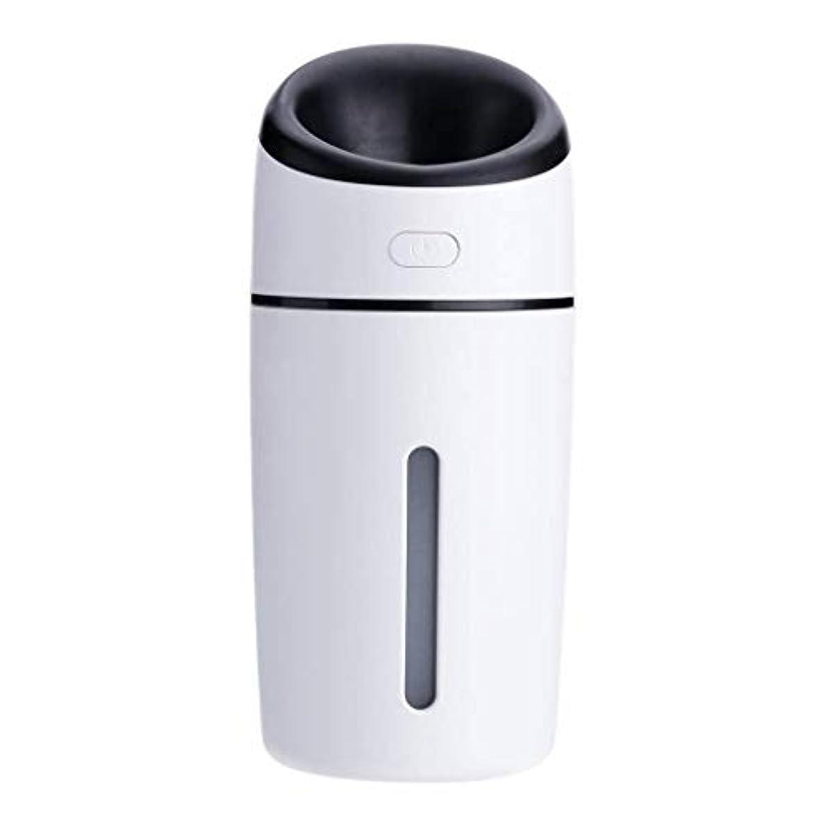 通信する合体オーバーラン加湿器、超音波洗浄空気清浄機、7色LEDライト、無水自動アロマテラピーマシン、ホームオフィスの寝室の車 (Color : 黒)