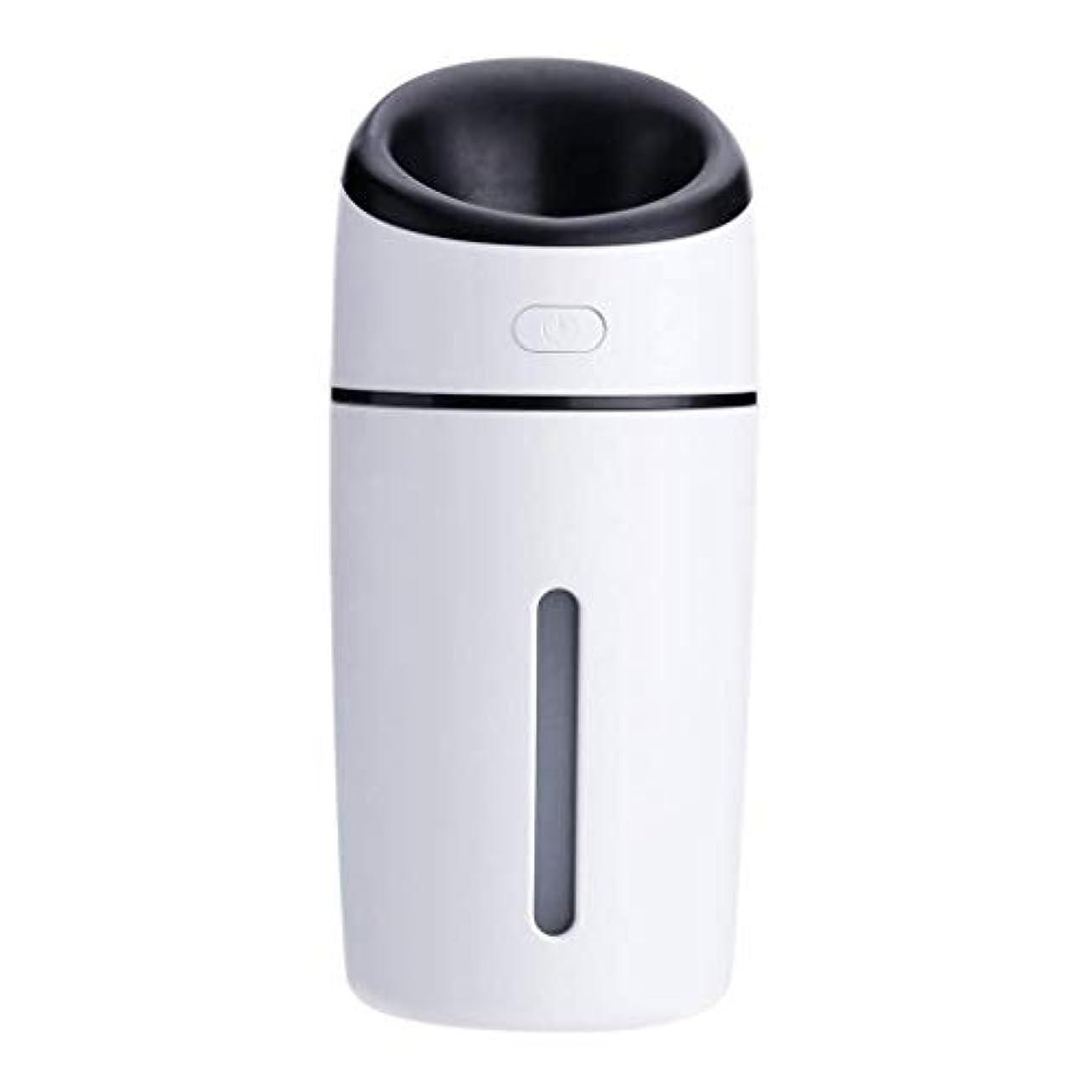 ヨーグルトひそかに勢い加湿器、超音波洗浄空気清浄機、7色LEDライト、無水自動アロマテラピーマシン、ホームオフィスの寝室の車 (Color : 黒)