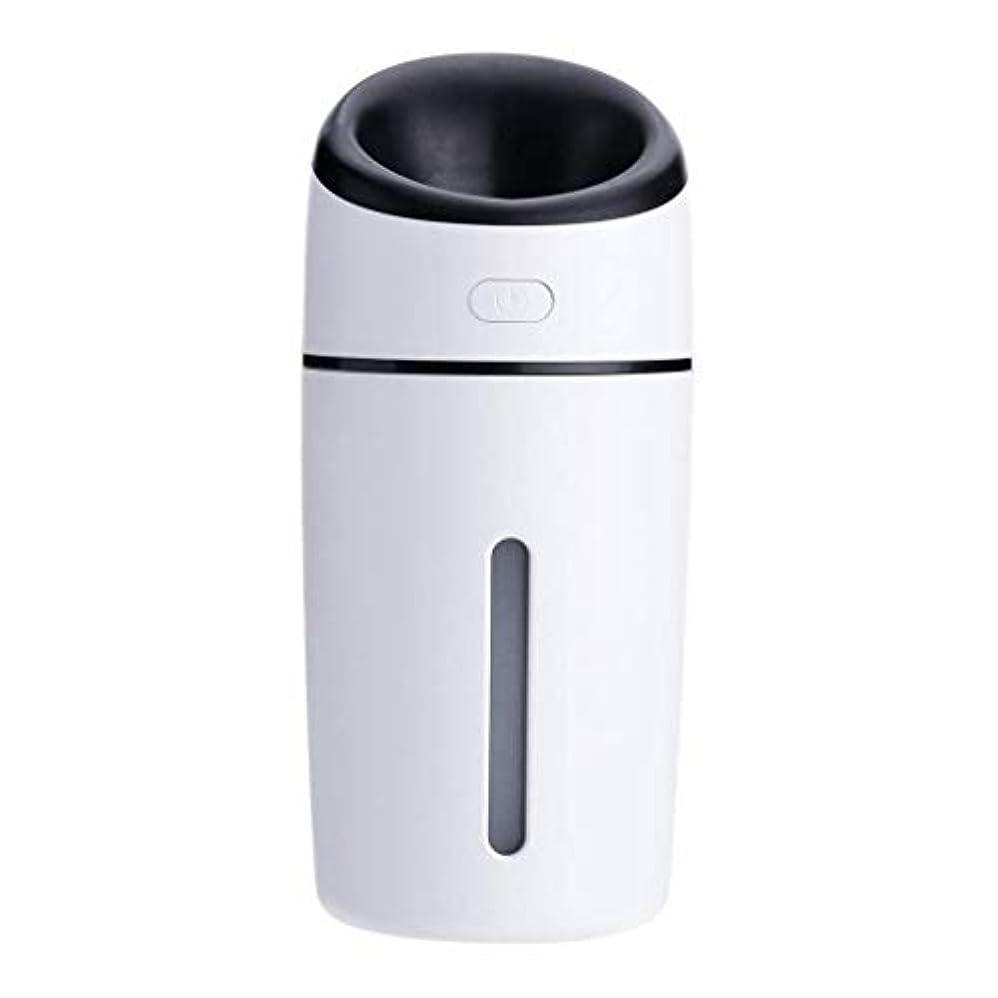ティーンエイジャー持っている軽減する加湿器、超音波洗浄空気清浄機、7色LEDライト、無水自動アロマテラピーマシン、ホームオフィスの寝室の車 (Color : 黒)
