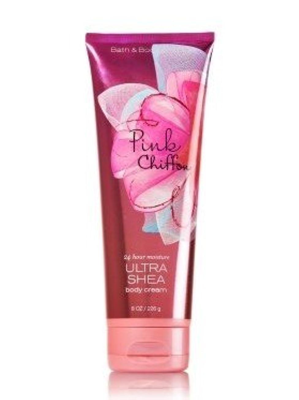 ネット戦術雪【Bath&Body Works/バス&ボディワークス】 ボディクリーム ピンクシフォン Ultra Shea Body Cream Pink Chiffon 8 oz / 226 g [並行輸入品]