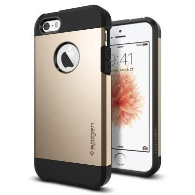 【Spigen】 スマホケース iPhone SE ケース / iPhone5s ケース / iPhone5 ケース 対応 米軍MIL規格取得 二重構造 耐衝撃 傷防止 カメラ保護 衝撃 吸収 タフ・アーマー 041CS20252 (シャンパン・ゴールド)