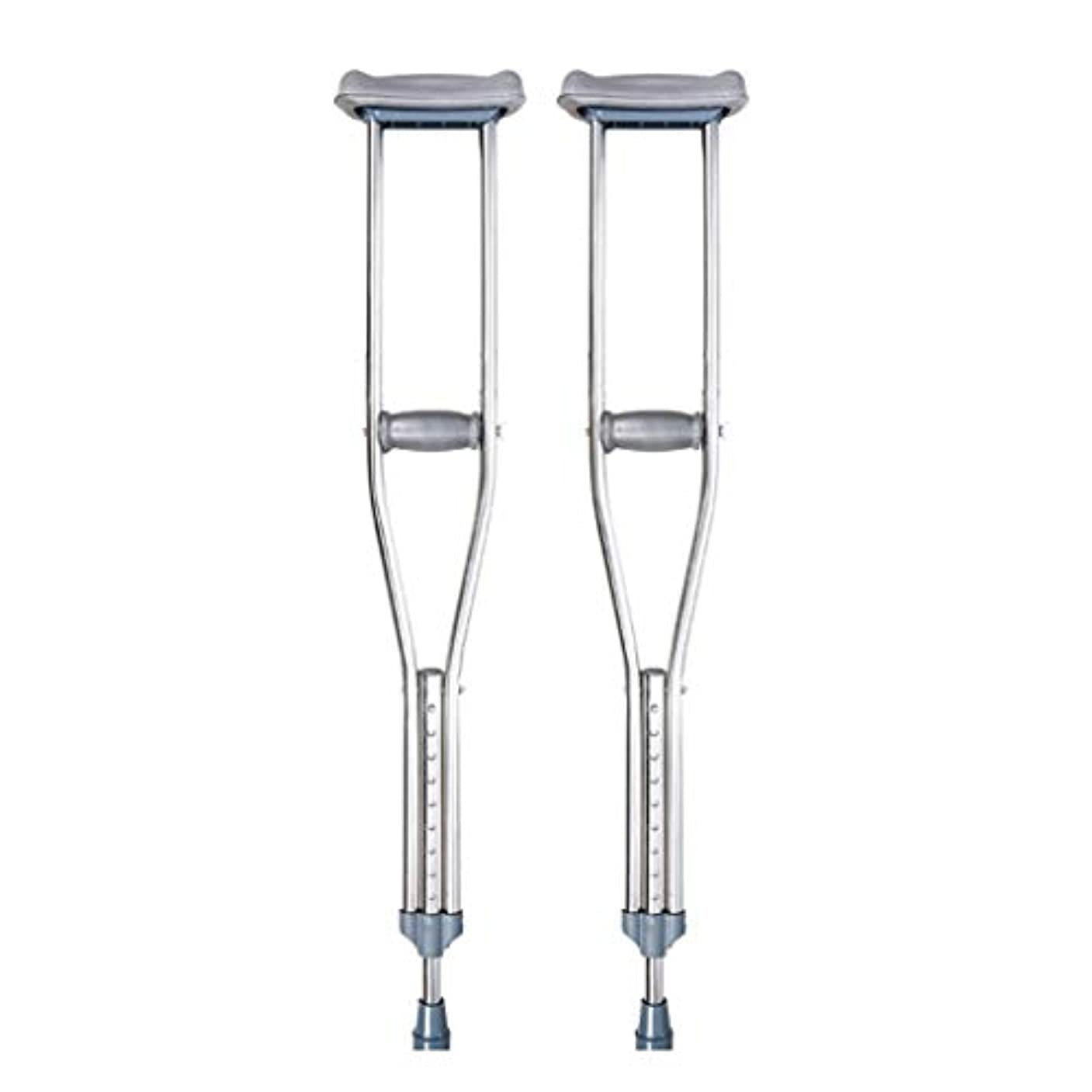 付ける贅沢な売上高ダブルアジャスタブル松葉杖、大人用松葉杖、調節可能なステンレススチール松葉杖、ダブルアジャスタブル、軽量歩行補助具 Double Small