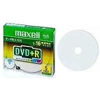 maxell データ用 DVD+R 4.7GB 1-16倍速対応 インクジェットプリンタ対応ホワイト(ワイド印刷) 5枚 5mmケース入 D+R47WPD.S1P5S A