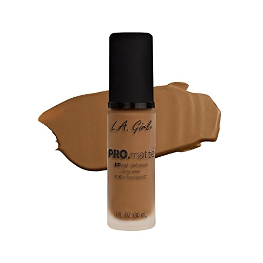 動機合理的安定(6 Pack) L.A. GIRL Pro Matte Foundation - Cafe (並行輸入品)