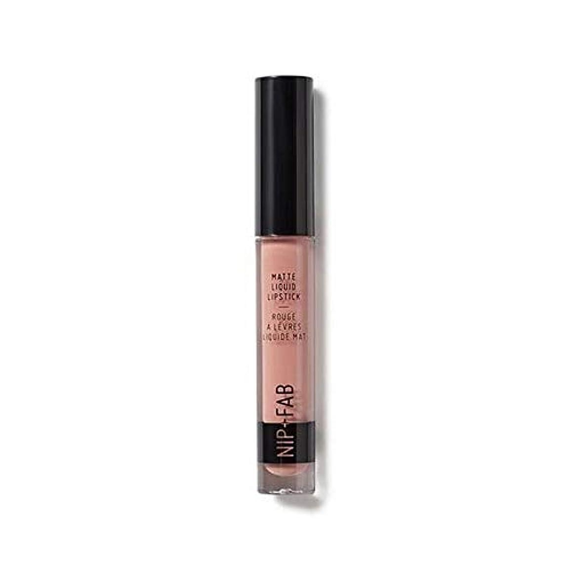 海軍ダブルベテラン[Nip & Fab ] マット液状口紅2.6ミリリットルのタフィー20を構成するFab +ニップ - NIP+FAB Make Up Matte Liquid Lipstick 2.6ml Toffee 20 [並行輸入品]