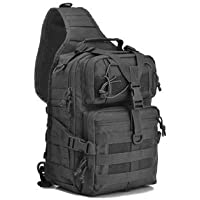 WATER BEAR TACTICAL Shoulder Bag Military Rover Sling Pack with Molle and Flag Patch