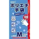826ポリエチ手袋100枚 Mサイズ × 10個セット