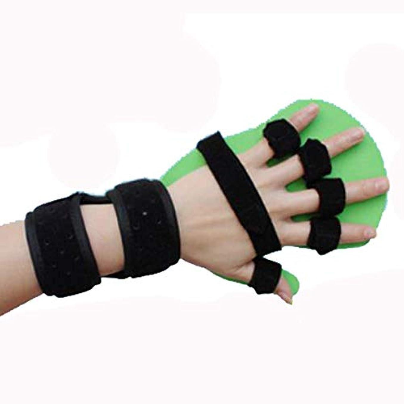 平らな固体沼地医療高齢者の子供たちは指脳卒中片麻痺リハビリ指補正指リハビリリハビリスプリントを分割しました,Lefthand,M