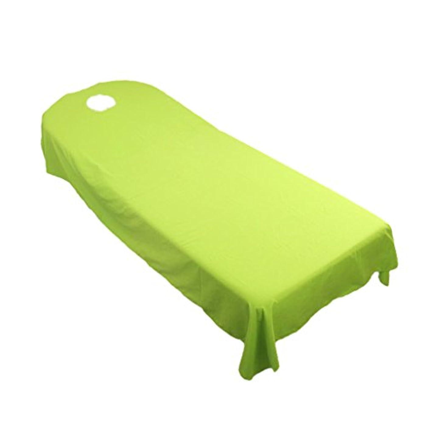 旧正月最終アセンブリタオル地 ベッドカバー ソファーカバー シート 面部の位置 ホール付き 美容/マッサージ/SPA 用 9色選べる - 緑