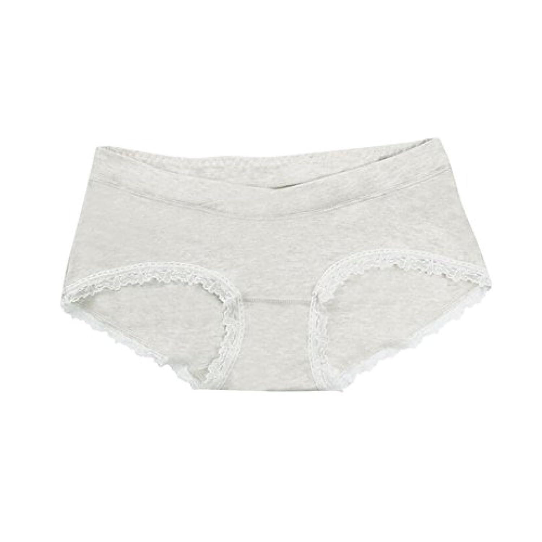 Hzjundasi 2Pcs 妊娠中の女性 Lace Edge 下着 マタニティ Low Waist Cotton パンティー ブリーフ