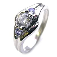【SUEHIRO】 ( 婚約指輪 ) ダイヤモンド プラチナエンゲージリング( 12月誕生石 ) タンザナイト #16