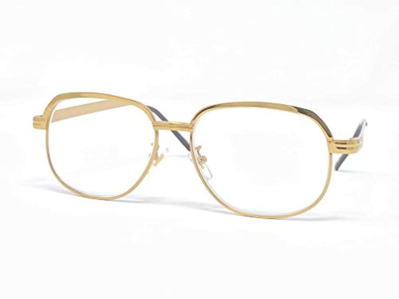 ライブラリー(度数+3.00)老眼鏡 メガネ メンズ ファッション めがね工房ハトヤオリジナルメガネ拭き付【正規品】ゴールド