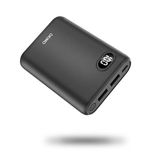モバイルバッテリー 携帯充電器 10000mAh 大容量 急速充電 2USBポート電量残量表示 持ち運び便利 地震/災害/旅行/出張/アウトドア活動などの必携品 iPhone/iPad/Android各種対応 PSE/CE/ROSH認証済み (ブラック)