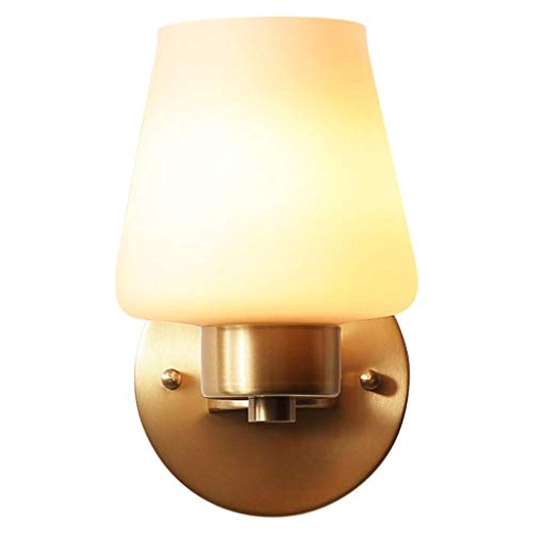父方の良さ中絶壁面ライト, アメリカンシンプル銅ウォールランプホームリビングルームランプテレビウォールランプベッドサイドランプクリエイティブ階段ウォールランプ AI LI WEI
