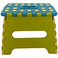 折りたたみ椅子 踏み台 ステップ こども椅子 アウトドア 運動会 青&黄緑 18㎝