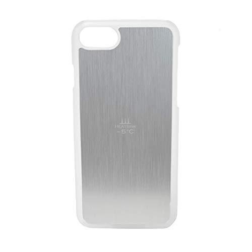 サンハヤト 熱いスマホを【-5℃】冷ますケース/HEATSINK-5℃(iPhone8/7用 クリア×シルバー)HS5C-87-CS
