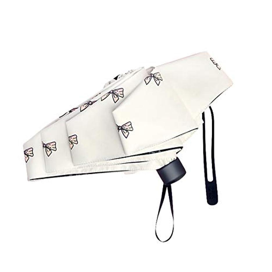 解読する滅びるイサカJOYS CLOTHING 旅行傘防風、黒のり抗UVコーティング、女性男性用コンパクト折りたたみ傘 (Color : White)