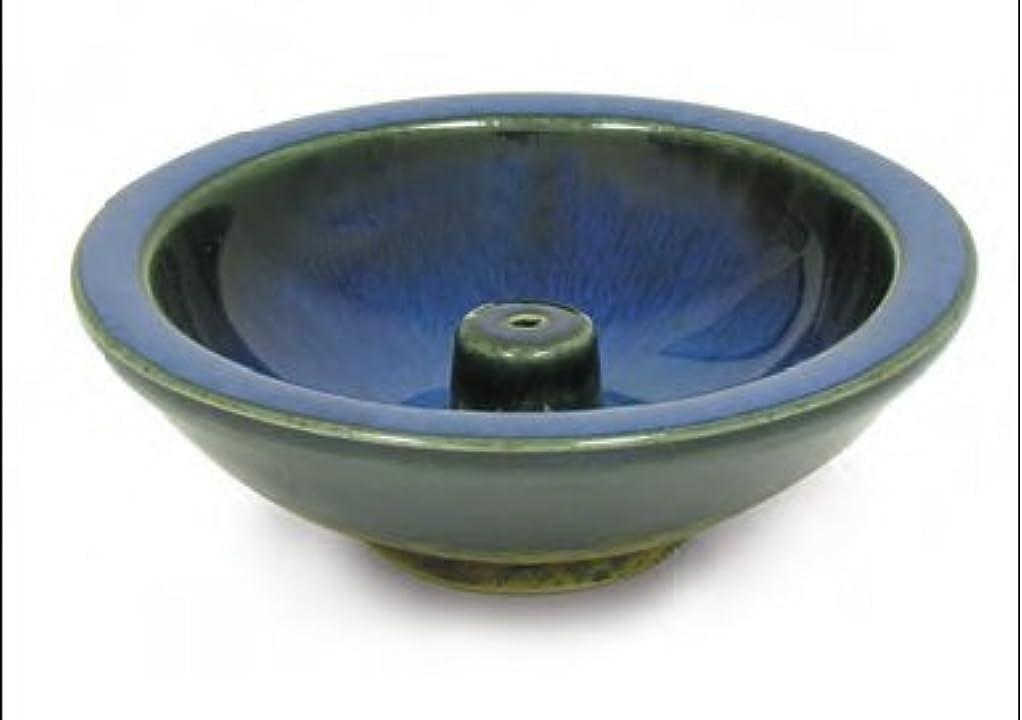 正しくツールハーフShoyeido's Denim Round Ceramic Incense Holder