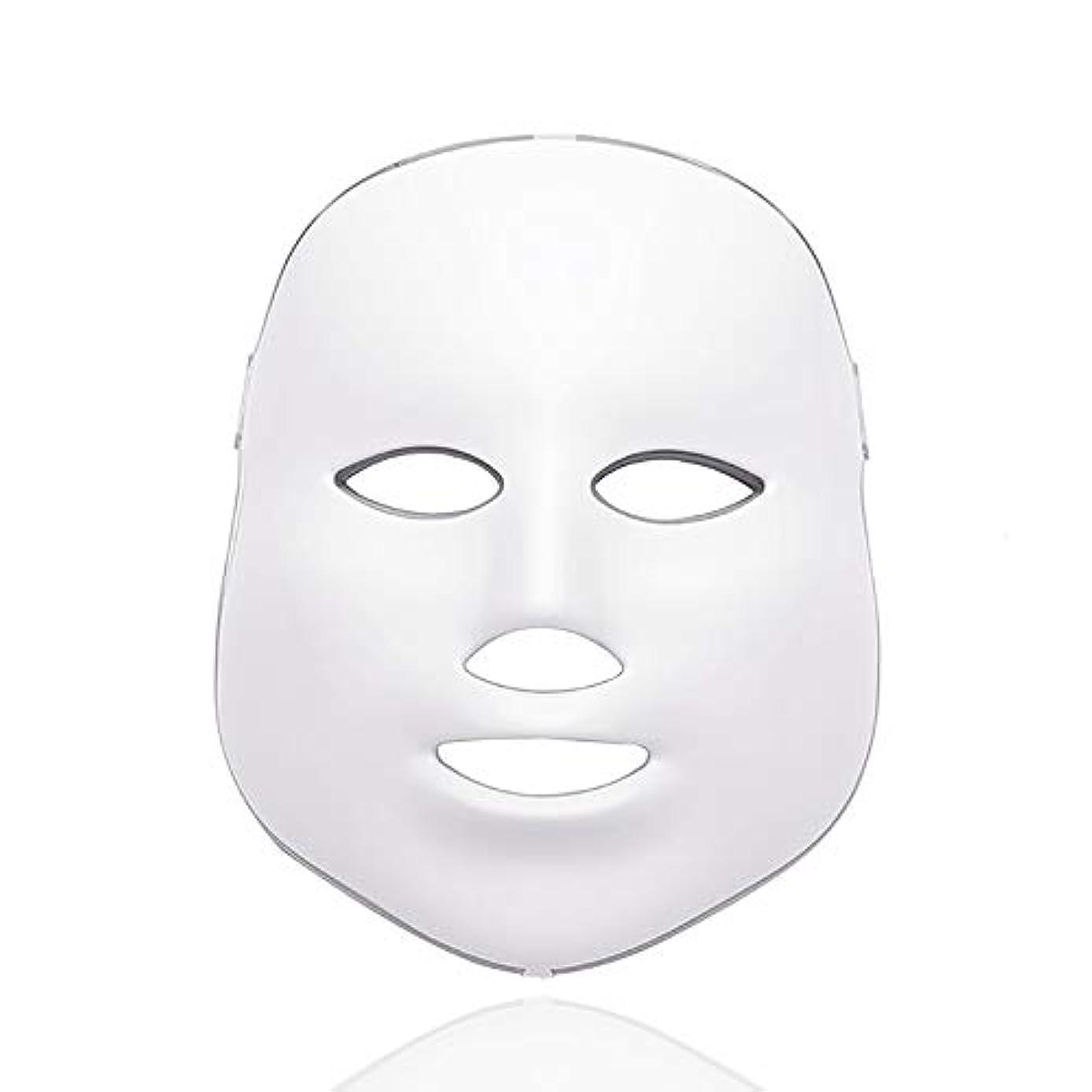 追放オート収容するワイヤレス7色がネックライト肌の若返りフェイシャル・ビューティデイリースキンケアマスクをマスクLED